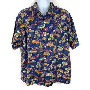 Vintage HUMMINGBIRD Hawaiian Woodie Wagon Shirt XL